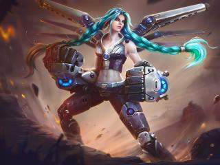 Cyberpunk Woman Warrior wallpaper