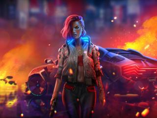 Cyborg Cyberpunk 2077 Digital Fan Art wallpaper