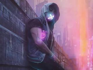Cyborg in Hoodie wallpaper