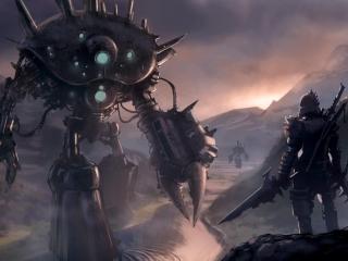 cyborg, robot, man wallpaper