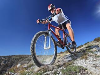 cyclist, traffic, sports wallpaper