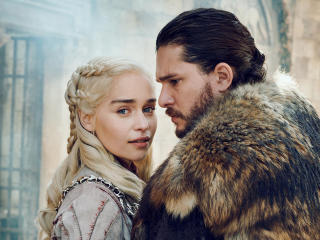 Daenerys Targaryen  and Jon Snow GOT 8 wallpaper