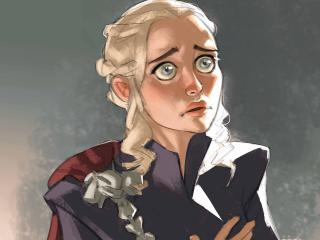 Daenerys Targaryen Khaleesi Artwork wallpaper