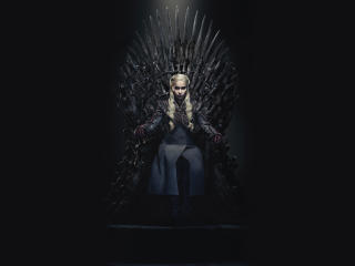Daenerys Targaryen Queen Of the Ashes in The Iron Throne wallpaper