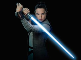 Daisy Ridley As Rey Star Wars In The Last Jedi wallpaper