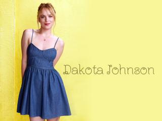 Dakota Johnson Blue Dress wallpaper