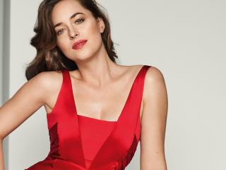 Dakota Johnson In Red Outfit wallpaper