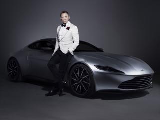 Daniel Craig 007 James Bond Aston Martin Car Photoshoot wallpaper