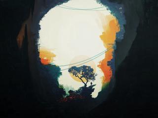 Dark HD Minimal Forest wallpaper
