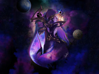 Dark Lux x Jhin League of Legends wallpaper