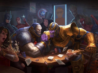 Darkseid Vs Thanos Art wallpaper