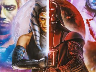 Darth Vader x Ahsoka Star Wars wallpaper