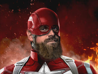 David Harbour as Red Guardian Art wallpaper