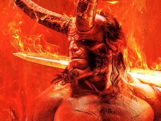 David Harbour Hellboy Movie 2018 Promotional Art wallpaper