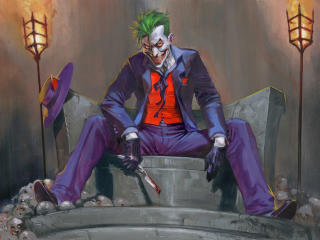 DC Comic Joker Art wallpaper