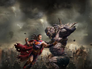 DC Comic The Death of Superman Fight wallpaper