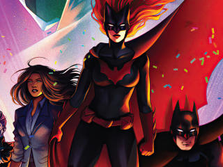 DC Comics Batgirl and Batman Team wallpaper