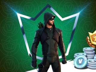 DC Green Arrow Fortnite wallpaper