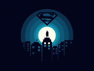 DC Superman Minimal wallpaper