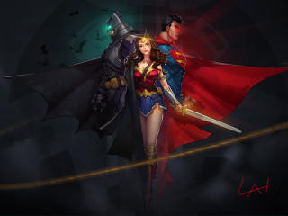 DC Trinity Arts wallpaper