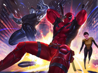 Deadpool Colossus Teenage Warhead Artwork wallpaper