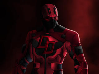 Deadpool Daredevil Marvel Comics 4K wallpaper