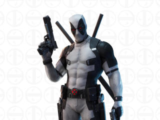 Deadpool White Suit X-Force Fortnite wallpaper