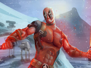 Deadpool x Star Wars wallpaper