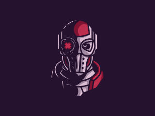 Deadshot Face Minimal wallpaper