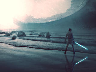 Death Star Rise of Skywalker Art wallpaper