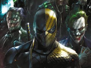 Deathstroke, Two Face and Joker wallpaper