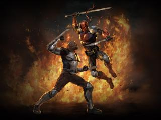 Deathstroke vs Bronze Tiger wallpaper