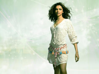 Deepika Padukone In White Dress Wallpaper wallpaper