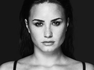 Demi Lovato Tell Me You Love Me Song Monochrome Shoot wallpaper