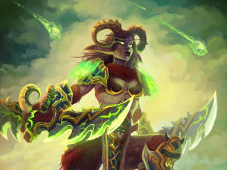 Demon Hunters  Art Warcraft wallpaper