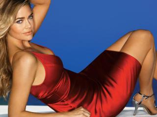Denise Richards hot red dress wallpaper wallpaper