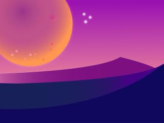 Desert 4K Night Illustration wallpaper