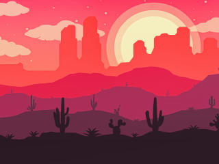 Desert Vector Art wallpaper