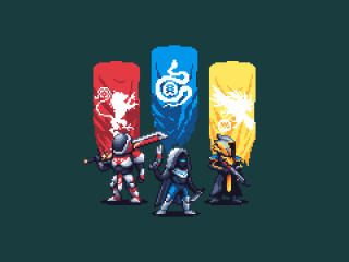 Destiny 2 Pixel Artwork wallpaper