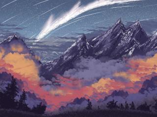 Digital Artistic Mountain 4k 2K21 wallpaper