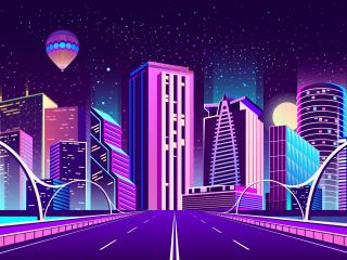 DIgital CIty Road wallpaper