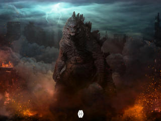 Digital Godzilla Concept wallpaper