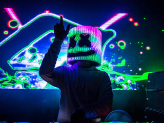 DJ Marshmello HD Neon wallpaper