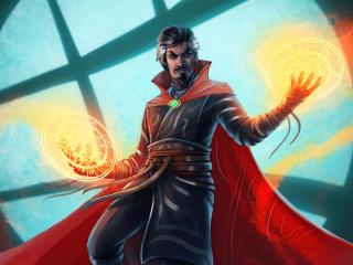 Doctor Strange Marvel Comic Illustration wallpaper