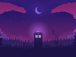Doctor Who Minimal Art wallpaper