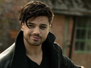 dominic cooper, face, smile wallpaper