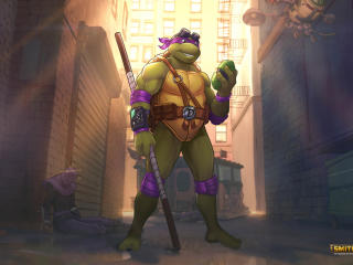 Donatello TMNT x Smite wallpaper