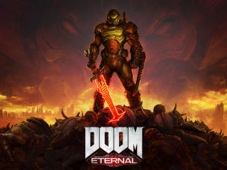 DOOM Eternal 8K Poster wallpaper
