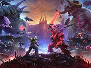 DOOM Eternal Demon Battle wallpaper