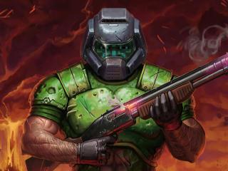 Doom Shotgun wallpaper